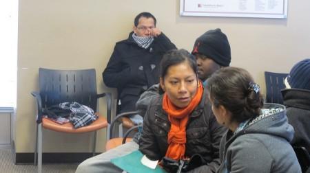 Patients wait to see a dentist in the St. Elizabeth Ann Seton Dental Clinic. (Photo by Andrea Waxman)