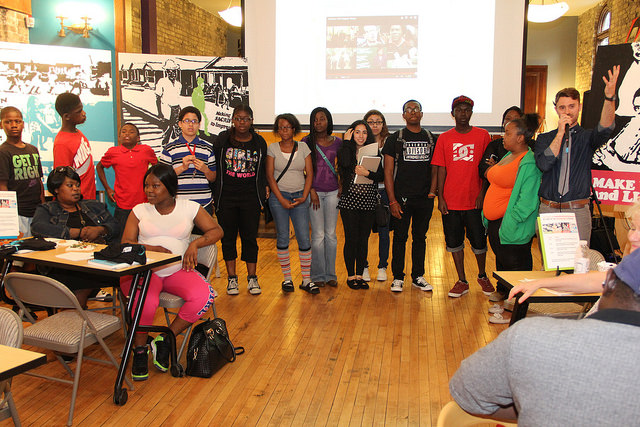 Sixteen MPS students soon will head to the South, where they will learn more about civil rights history. (Photo by Karen Slattery)