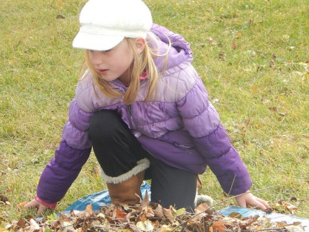 Six-year-old Sadie Mittelstaedt has been coming to Make a Difference Day for five years. (Photo by Caroline Roers)