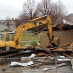 Old pavilion bites the dust in Johnsons Park renovation