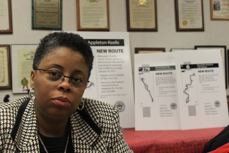 Clarene Mitchell, director of communication and collaboration for the Black Coalition of Wisconsin, said the group is satisfied with the new Route 61. (Photo by Matt Wisla)