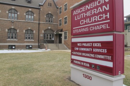 The Southside Organizing Committee is housed in the Ascension Lutheran Church building, 1300 S. Layton Blvd. (Photo by Edgar Mendez)