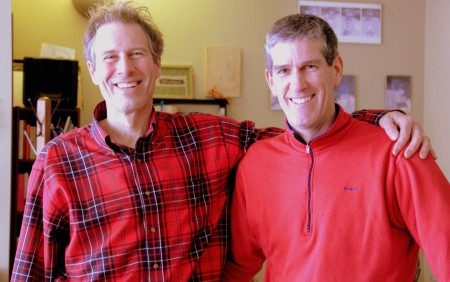 Dave Boucher (left), co-owner of Amaranth Bakery and Cafe, and Dan Bieser (right), founder and owner of Tabal Chocolate, are both located in the Washington Park area. (Photo by Molly Rippinger)
