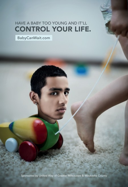 One of three new ads posted around Greater Milwaukee. (Courtesy of United Way of Greater Milwaukee & Waukesha County)
