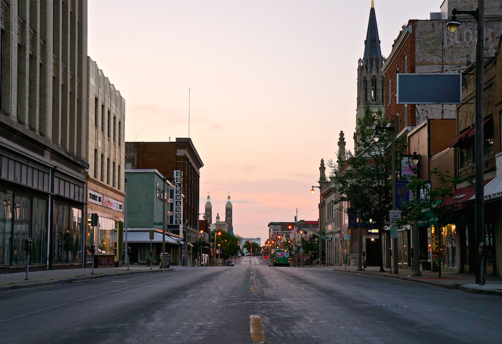 An early morning on Historic Mitchell Street, which lies in BID#4 (Photo by Adam Carr)
