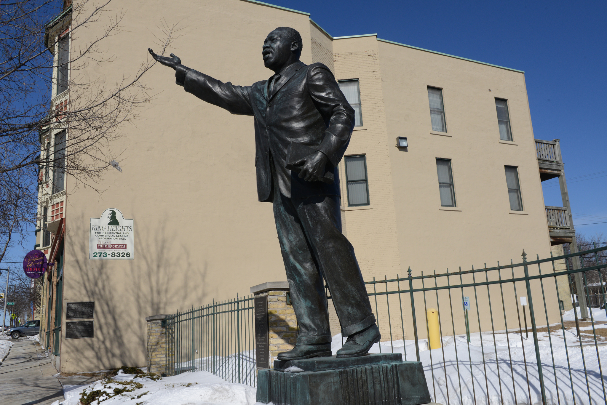 A Bronze Statue Of Dr Martin Luther King Jr Was Erected As Part