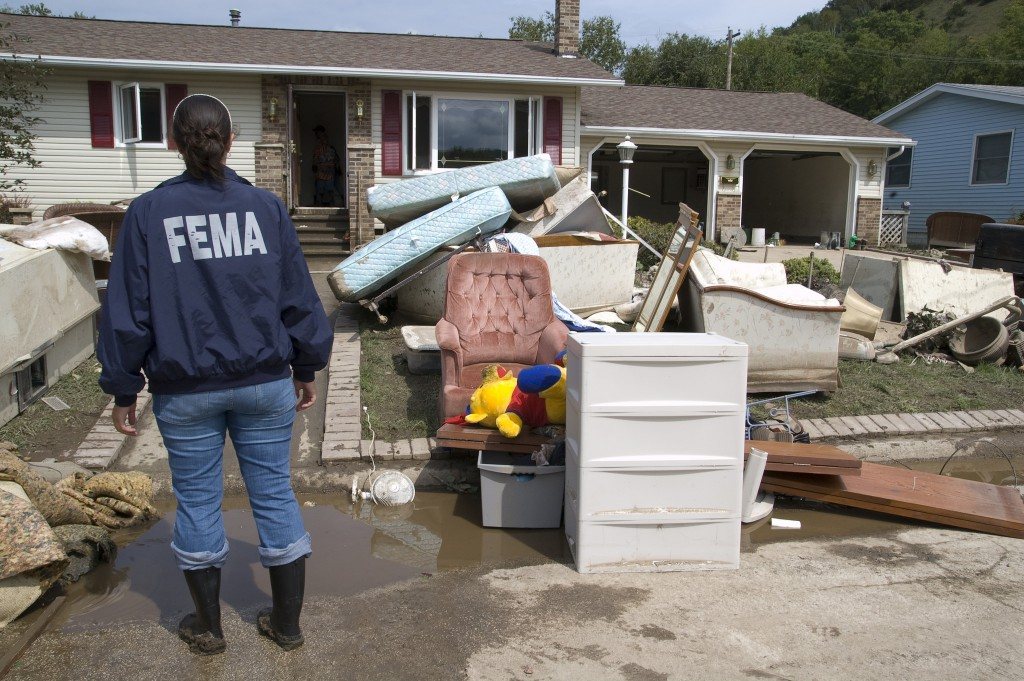 Warmer weather increases the risk of flooding. (Photo courtesy of FEMA)