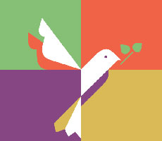The dove logo is featured on the Sojourner mobile app. (Photo courtesy of UWM)