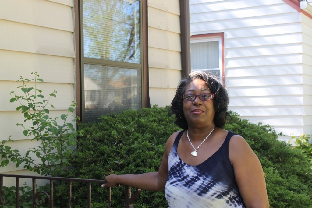 Charmion Herron didn't see home ownership in her future until a city program that sells foreclosed homes gave her the opportunity. (Photo by Matthew Wisla)