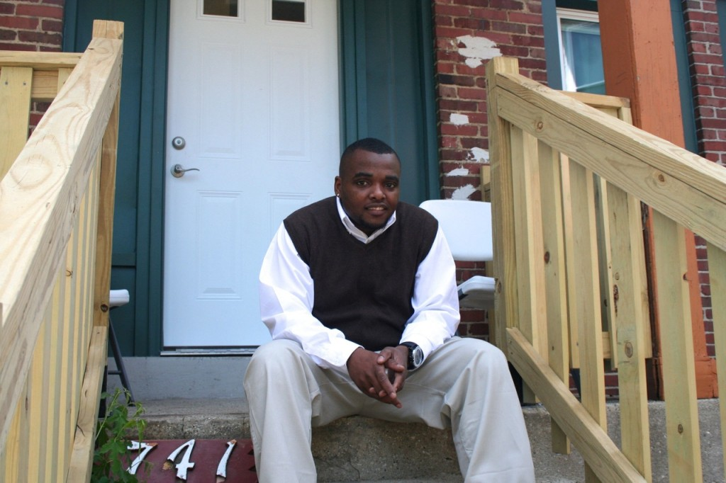Wilton Johnson, who spent more than four years in foster care as a child, will serve as the Campus Housing Initiative's peer advisor at 741 S. 23rd St. (Photo by Jabril Faraj)