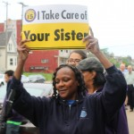 Home care workers, community leaders hold candlelight vigil at MCFI