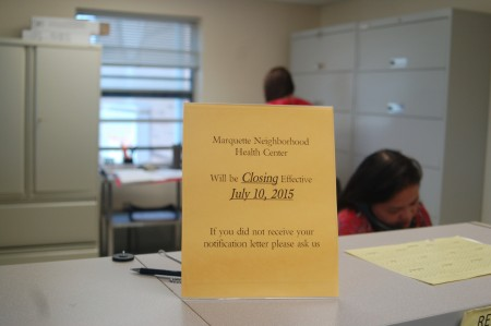 The Marquette Neighborhood Health Center announced five weeks ago that it would close on July 10. (Photo by Devi Shastri)