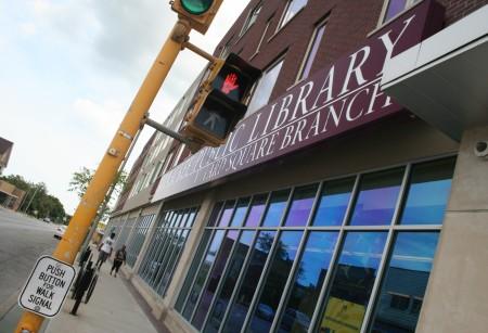 The Villard Square branch of the Milwaukee Public Library. (Photo by Jabril Faraj)