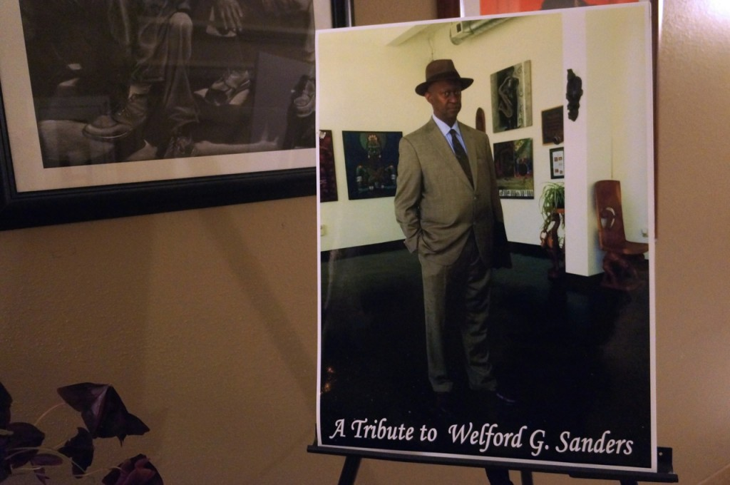 The late Welford Sanders, who was well known for his many successful redevelopment projects in the central city, was honored during the recent Gallery Night on King Drive. (Photo by Adam Carr)