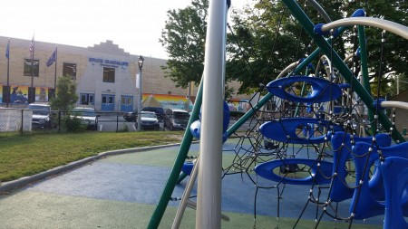 Walker Square Park is located directly across the street from Bruce Guadalupe Community School. (Photo by Edgar Mendez)