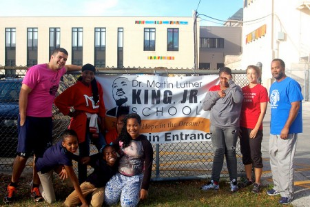 Dr. Martin Luther King Jr. School is one of nine Boys and Girls Club sites hosting running clubs leading up to the Milwaukee Running Festival. Other sites range from elementary to high schools in different parts of the city. (Photo by Allison Dikanovic)