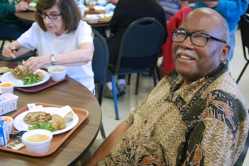 Joe Orr, 83, said he began participating in the meal program three years ago, after delivering county meals to the elderly for 16 years. (Photo by Edgar Mendez)
