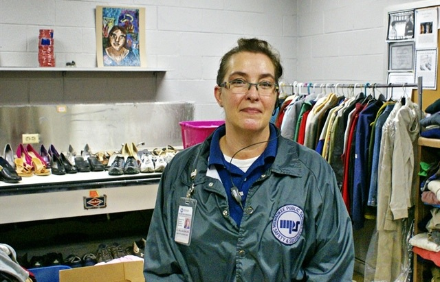 "MPS safety assistant Kimberly McLaughlin created ""Mama Mac's Closet"" to provide much-needed clothing and supplies to students at South Division. (Photo courtesy of Milwaukee Public Schools)"
