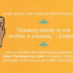 Local storytelling organization encourages listening over Thanksgiving