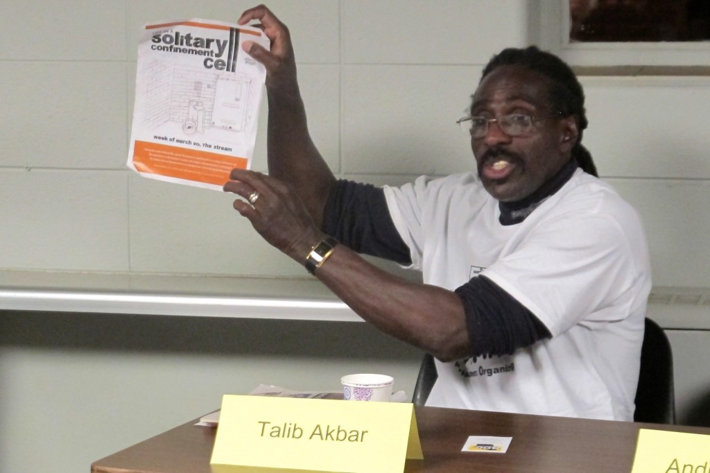 Talib Akbar's drawing of a solitary confinement cell helped spur a statewide campaign to raise awareness about the prison practice of isolation. (Photo by Wyatt Massey)
