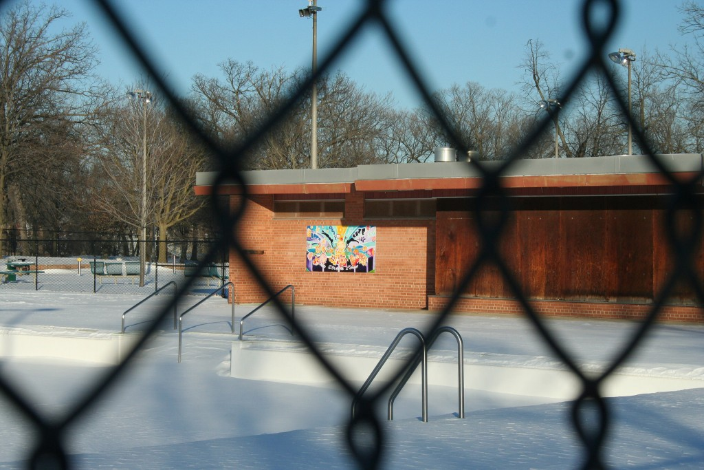 The Washington Park pool building will get much-needed repairs this summer. (Photo by Jabril Faraj)
