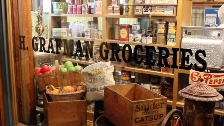 A replica of a Milwaukee grocery story is on display at the Chudnow Museum of Yesteryear, one of the 150 participants in the annual Doors Open Milwaukee event. (Photo Mark Doremus)