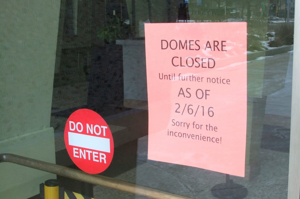 The Mitchell Park Domes are closed indefinitely due to structural concerns. (Photo by Wyatt Massey)