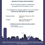 Upcoming WRTP/BIG STEP manufacturing recruitment session