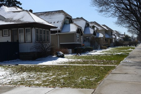 Homes in the Sherman Park neighborhood along 51st Street.  (Photo by Sue Vliet)