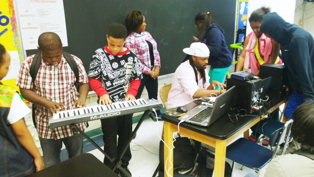 H2O Milwaukee Music has worked with more than 50 schools to provide music education programming to students across Milwaukee. (Photo courtesy of Marquis Gilbert)