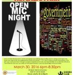Announcing first Metcalfe Park Political Open Mic