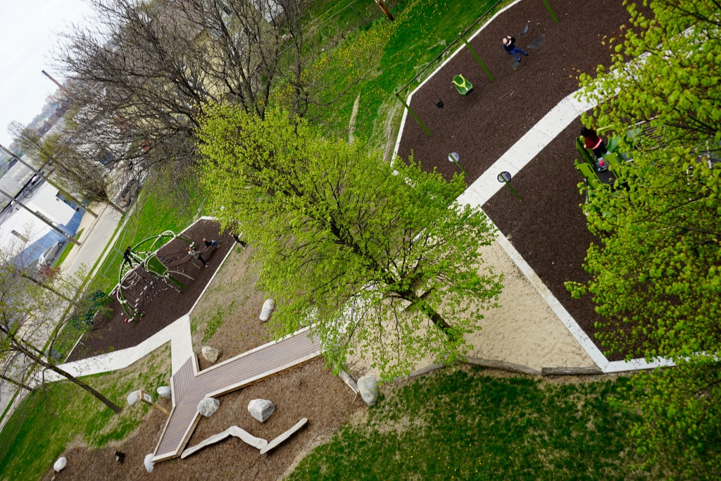 The first MKE Plays playground in Arlington Heights Park in the Silver City neighborhood.
