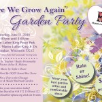 """Here We Grow Again"" Garden Party invitation from HeartLove Place"