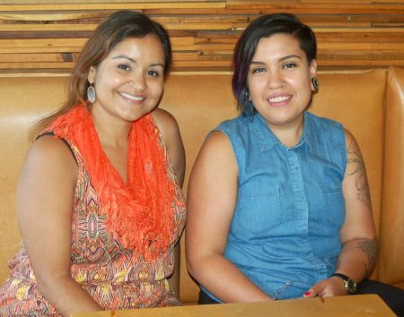 Claudia Guzman (left) and Jeanette Martín are co-curating Cine Sin Fronteras, a new program of Milwaukee Film. (Photo by Edgar Mendez)