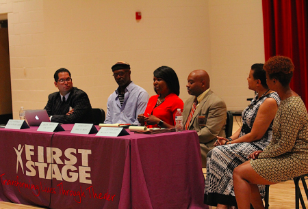 Police-community relations was the focus of a public forum organized by First Stage, Milwaukee Fire and Police Commission, Friends of Bronzeville and Alderwoman Milele A. Coggs. (Photo by Mark Doremus)