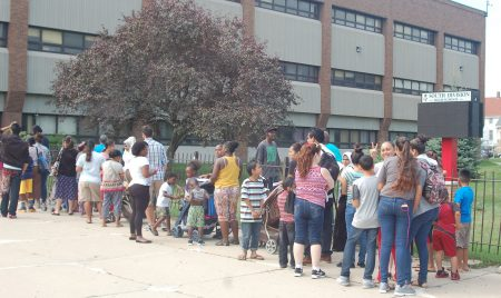 More than 1,800 people attended the Back to School Health Fair at South Division. (Photo by Clara Hatcher)