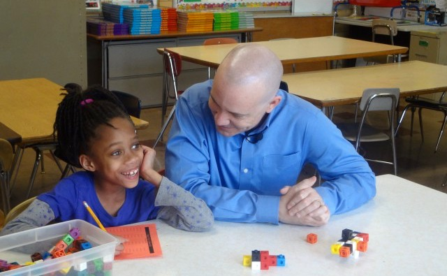 A tutor works with a young student at the Boys & Girls Clubs of Greater Milwaukee. (Photo by Sophia Smith)
