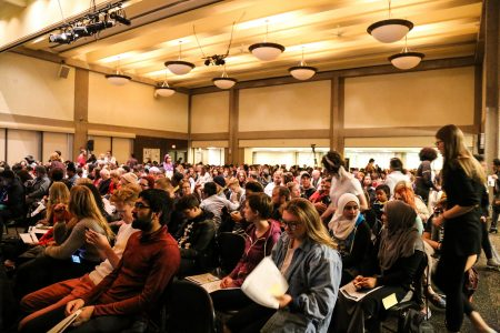 Every seat in the UWM Union Wisconsin room was filled for the presentation. (Photo by Allison Steines)