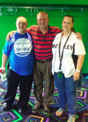 Andy Wegner, Rep. Zepnick and Andy's mother, Susan Karvala pictured at BOUNCE Milwaukee.