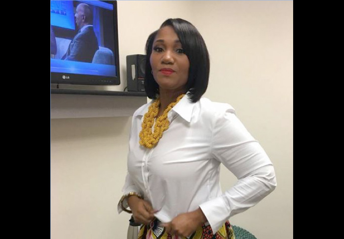"Hall waits in the green room of the ""Steve Harvey Show"" on Oct. 18. (Photo courtesy of Kimberly Hall)"