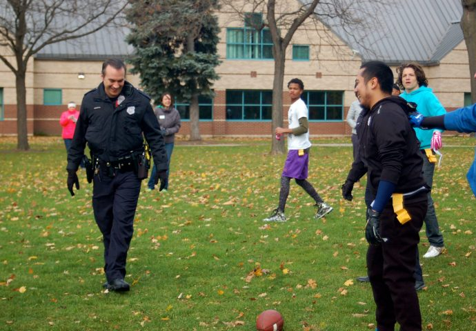 'Feast and Football' brings together teens, police in ...