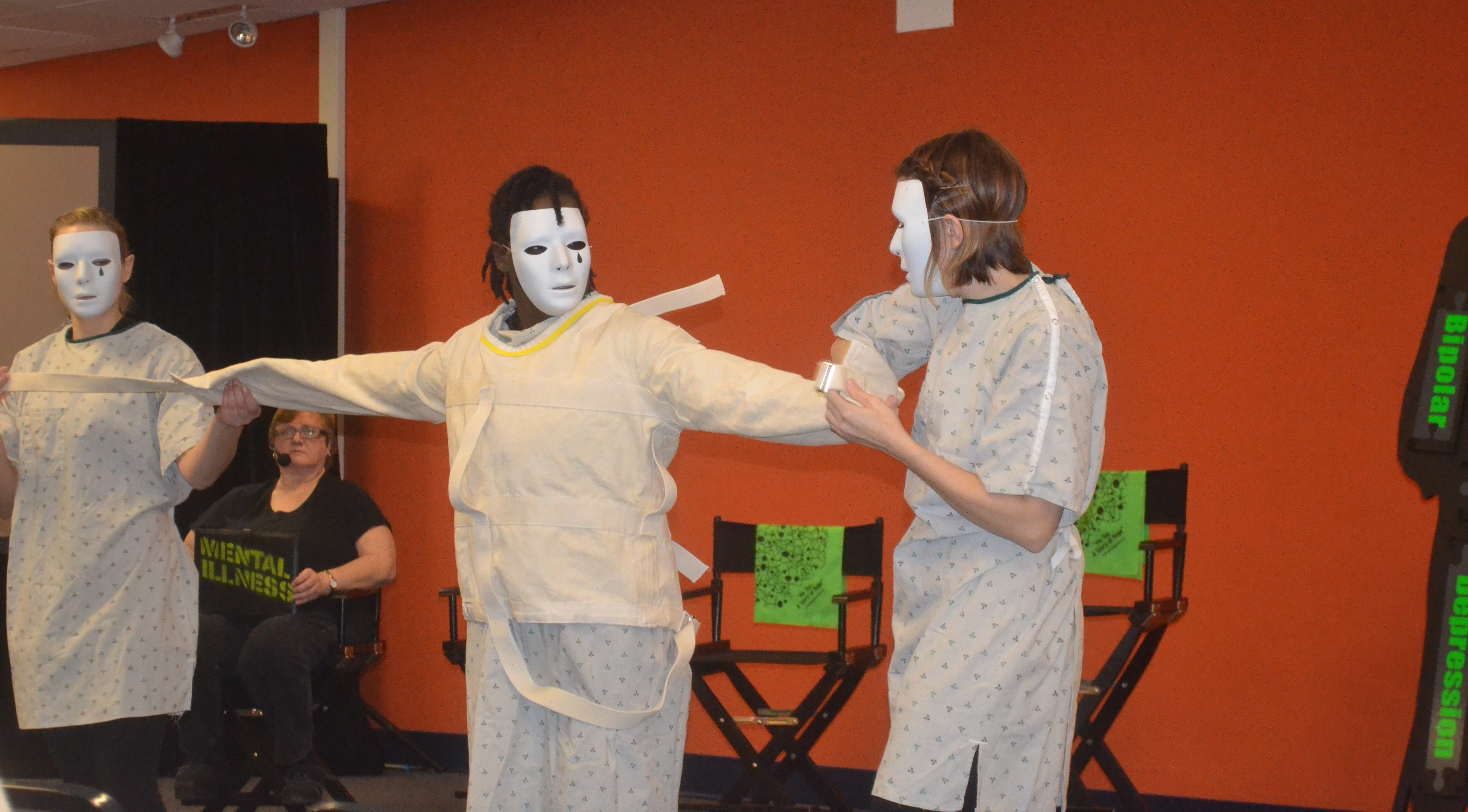 """The theatrical production """"Pieces: In My Own Voice,"""" depicts the lives of people living with a diagnosis of mental illness. (Photo courtesy of Social Development Commission)"""