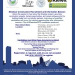 Milwaukee Streetcar construction recruitment on 1/26