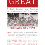GREAT: Poems of Resistance book launch