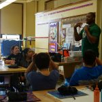 Former Bucks player engages students through art, life story