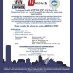 WRTP/BIG STEP, Wall-Tech & the Carpenters Union recruiting qualified workers
