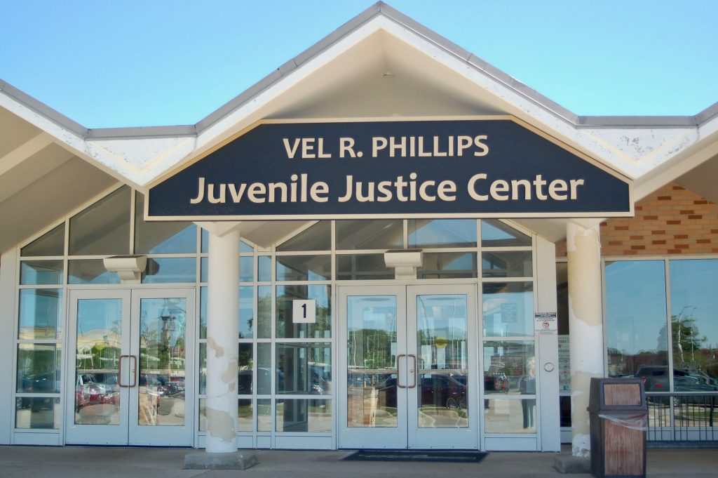 Vel R. Philips Juvenile Justice Center entrance