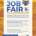 Summer Job Fair in the street set for Saturday, June 9