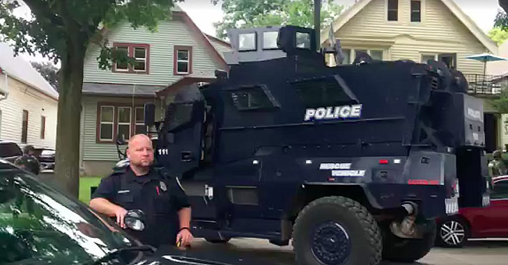 West Allis Police Department Uses Armored Vehicle To Serve