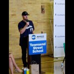 """Brewers pitcher Chase Anderson and UnitedHealthcare host """"Blessings in a Backpack"""" food program at Townsend Street School"""